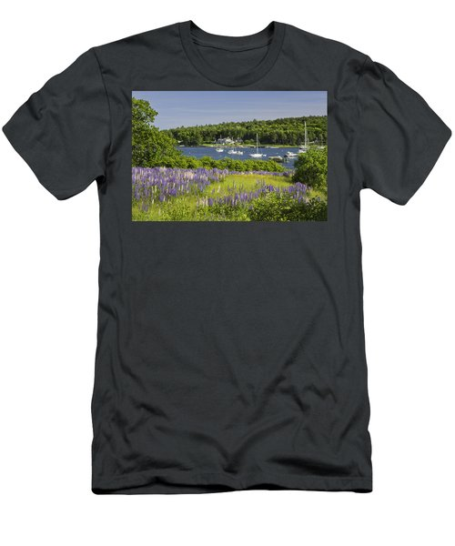 Round Pond Lupine Flowers On The Coast Of Maine Men's T-Shirt (Athletic Fit)
