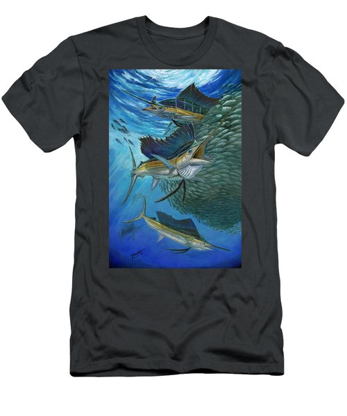 Sailfish With A Ball Of Bait Men's T-Shirt (Athletic Fit)