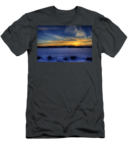 Scripture Photo Men's T-Shirt (Athletic Fit)