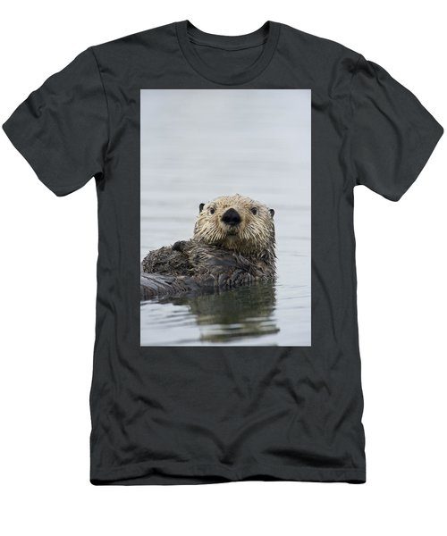 Men's T-Shirt (Athletic Fit) featuring the photograph Sea Otter Alaska by Michael Quinton