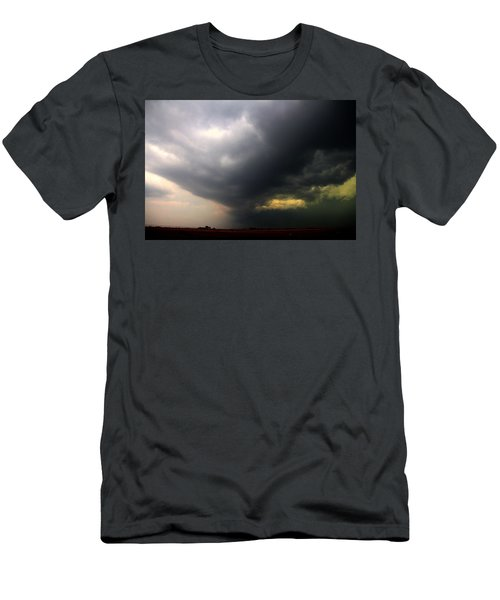 Men's T-Shirt (Athletic Fit) featuring the photograph Severe Cells Over South Central Nebraska by NebraskaSC