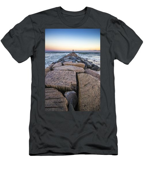 Shinnecock Inlet Jetty Men's T-Shirt (Athletic Fit)