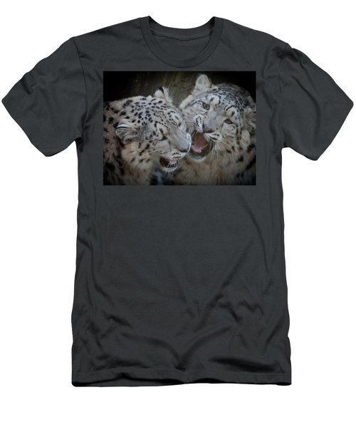 Snow Leopard Cubs Men's T-Shirt (Athletic Fit)