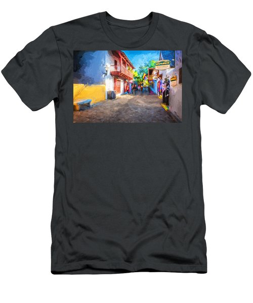 St George Street St Augustine Florida Painted Men's T-Shirt (Athletic Fit)