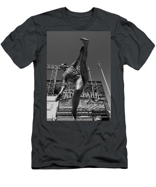 Statue Of Juan Marichal Outside Atandt Park San Francisco Men's T-Shirt (Athletic Fit)