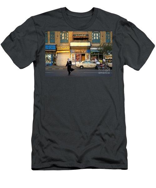 Street Scene In Teheran Iran Men's T-Shirt (Athletic Fit)