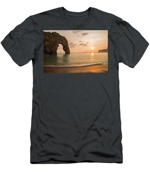 Sunset At Durdle Door Men's T-Shirt (Athletic Fit)
