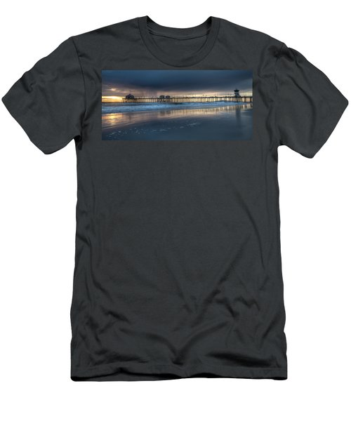 Approaching Storm Huntington Beach Pier Men's T-Shirt (Athletic Fit)
