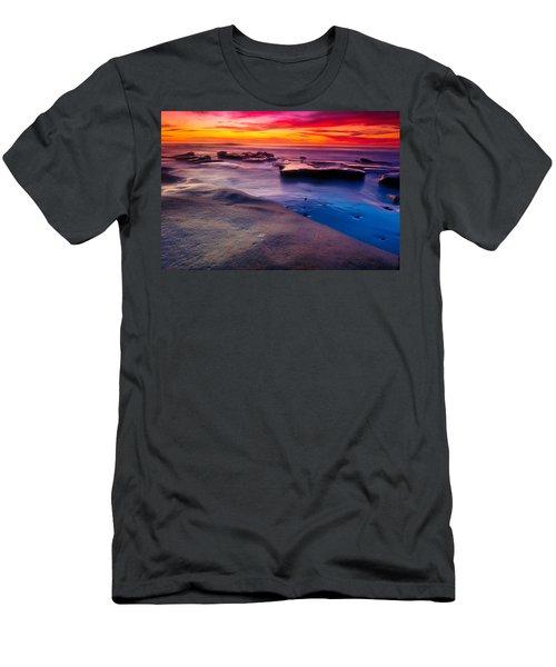 Sunset In La Jolla  Men's T-Shirt (Athletic Fit)