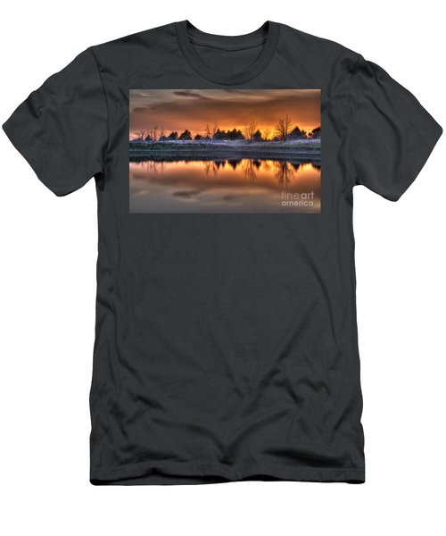Sunset Over Bryzn Men's T-Shirt (Athletic Fit)