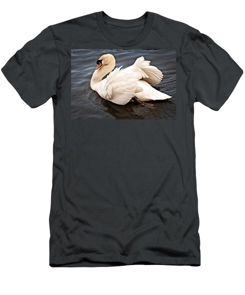 Men's T-Shirt (Slim Fit) featuring the photograph Swan One by Elf Evans