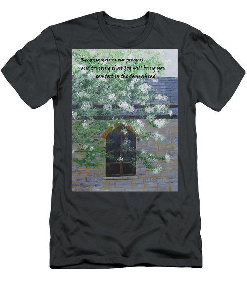 Sympathy Card With Church Men's T-Shirt (Athletic Fit)
