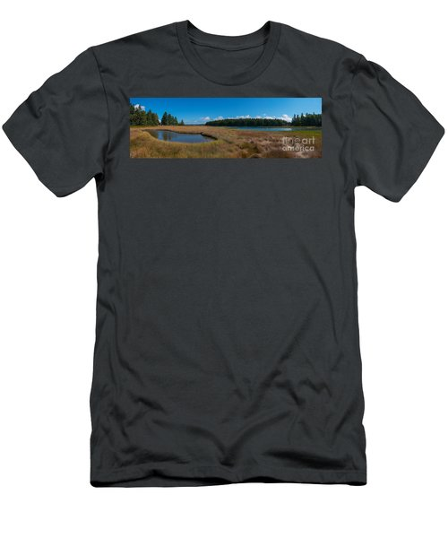 Thompson Island In Maine Panorama Men's T-Shirt (Athletic Fit)