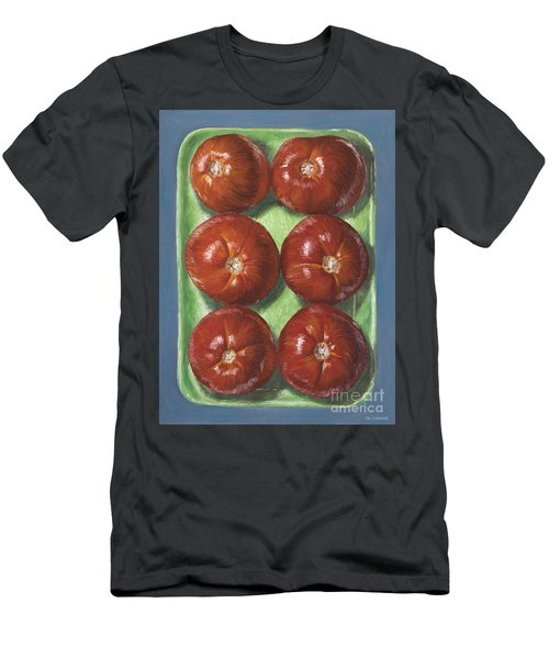 Tomatoes In Green Tray Men's T-Shirt (Athletic Fit)