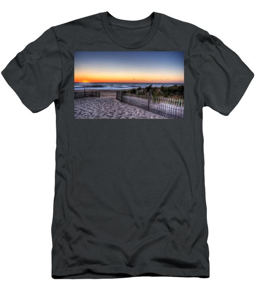 Tower Beach Sunrise Men's T-Shirt (Athletic Fit)
