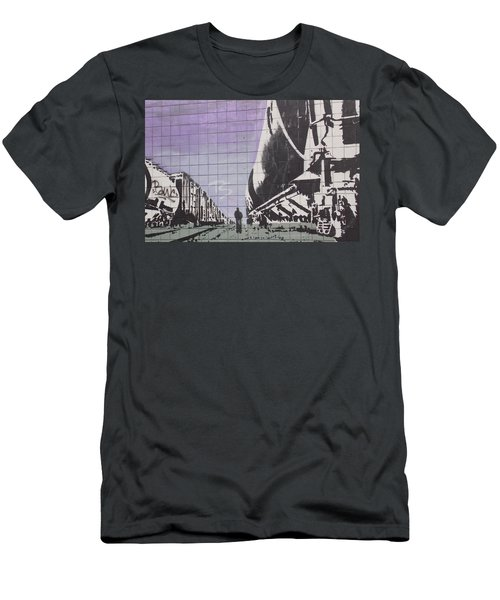 Train Graffiti  Men's T-Shirt (Athletic Fit)