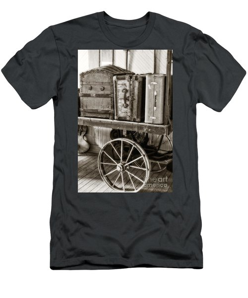 Train Station Luggage Cart Men's T-Shirt (Athletic Fit)