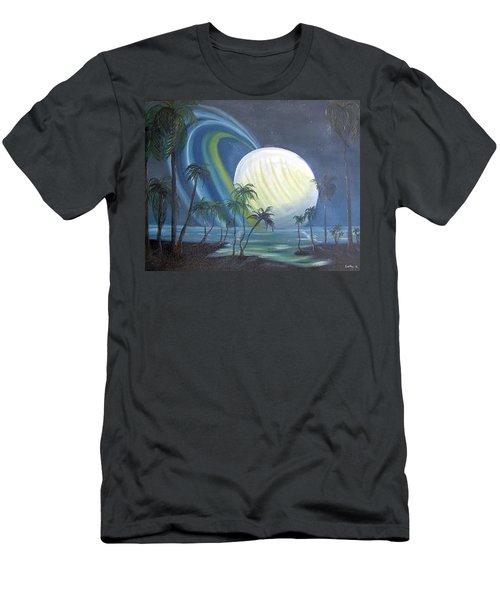 Tropical Moon Men's T-Shirt (Athletic Fit)