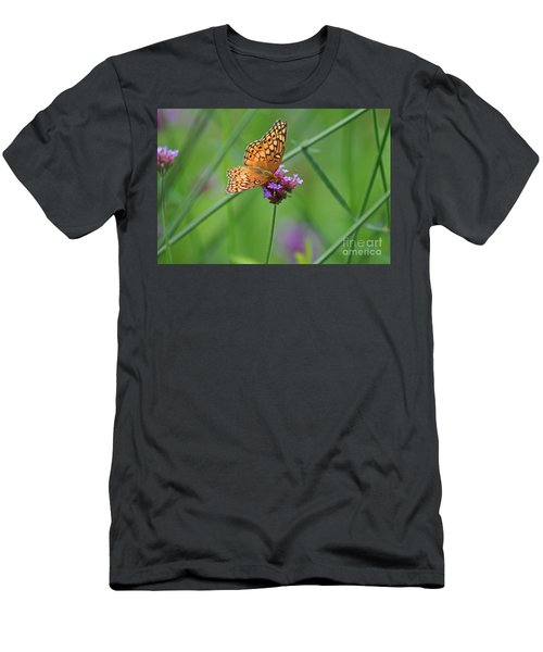 Variegated Fritillary Butterfly In Field Men's T-Shirt (Athletic Fit)