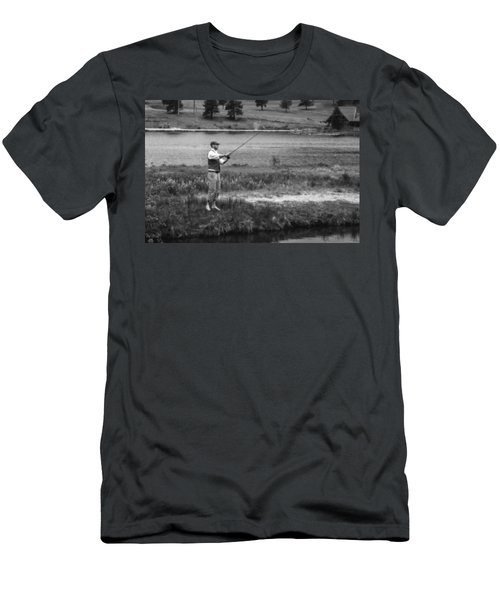 Men's T-Shirt (Slim Fit) featuring the photograph Vintage Fly Fishing by Ron White