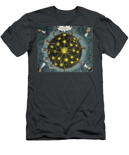 Volcanoes, Mundus Subterraneus, 1664 Men's T-Shirt (Athletic Fit)
