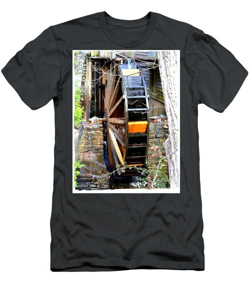 Men's T-Shirt (Slim Fit) featuring the photograph Water Wheel by Tara Potts