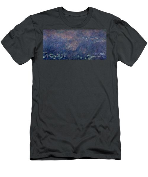 Waterlilies Two Weeping Willows Men's T-Shirt (Athletic Fit)