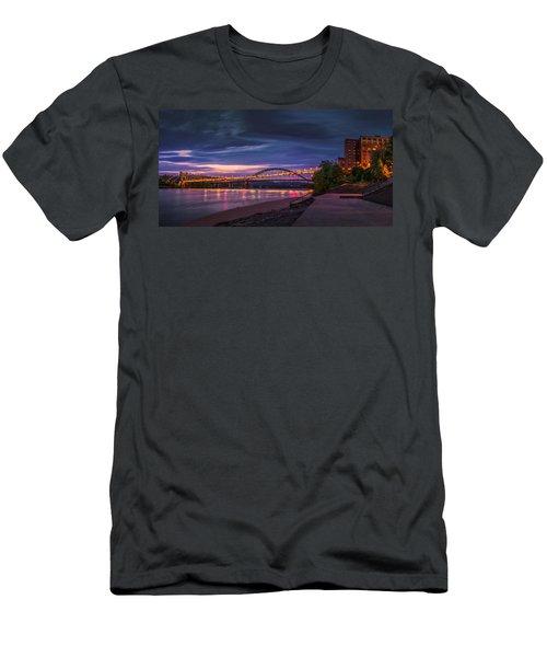 Wheeling Suspension Bridge  Men's T-Shirt (Slim Fit) by Mary Almond