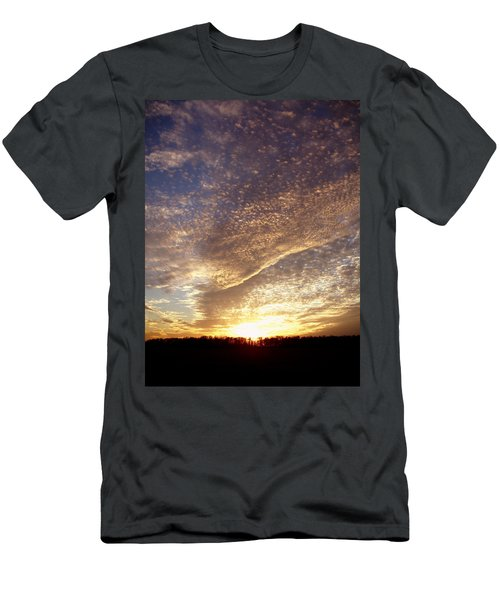 Men's T-Shirt (Slim Fit) featuring the photograph Wild Sky 2 by Cynthia Lassiter