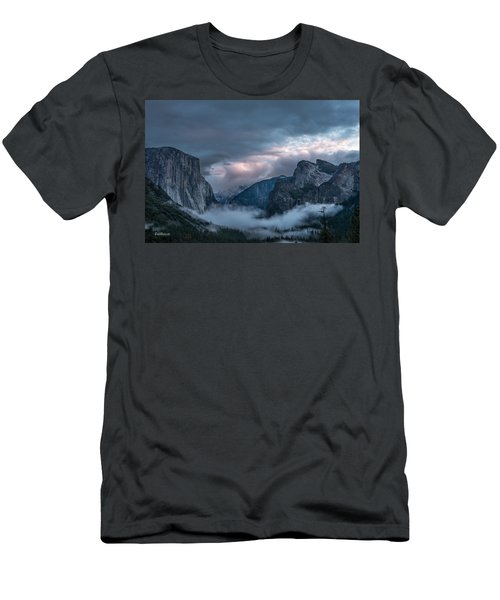 Yosemite In Clouds Men's T-Shirt (Athletic Fit)