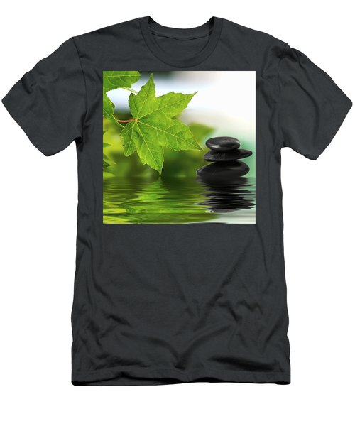 Zen Stones On Water Men's T-Shirt (Athletic Fit)