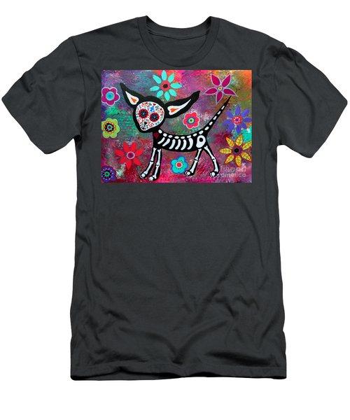 Chihuahua Dia De Los Muertos Men's T-Shirt (Athletic Fit)
