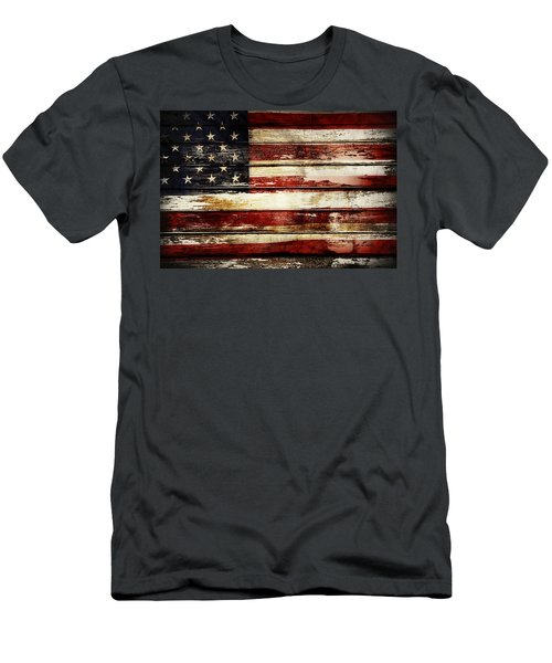 American Flag 33 Men's T-Shirt (Athletic Fit)