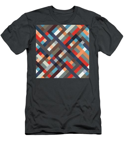 Geometric Men's T-Shirt (Athletic Fit)