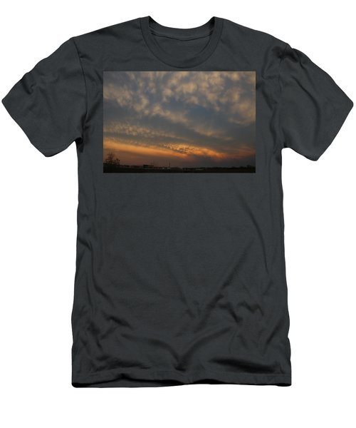 Men's T-Shirt (Athletic Fit) featuring the photograph Nebraska Mammatus Sunset by NebraskaSC