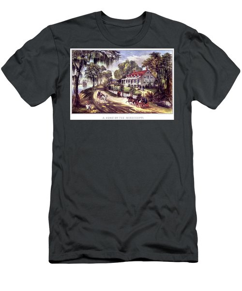 1870s 1800s A Home On The Mississippi - Men's T-Shirt (Athletic Fit)