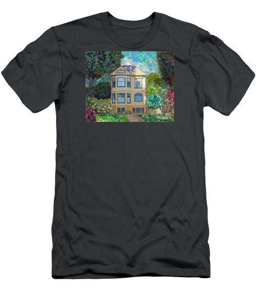 Alameda 1895 Quenn Anne Men's T-Shirt (Slim Fit) by Linda Weinstock