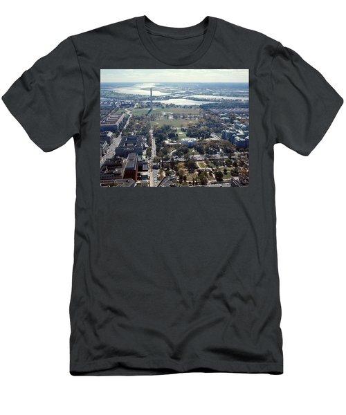 1960s Aerial View Washington Monument Men's T-Shirt (Athletic Fit)