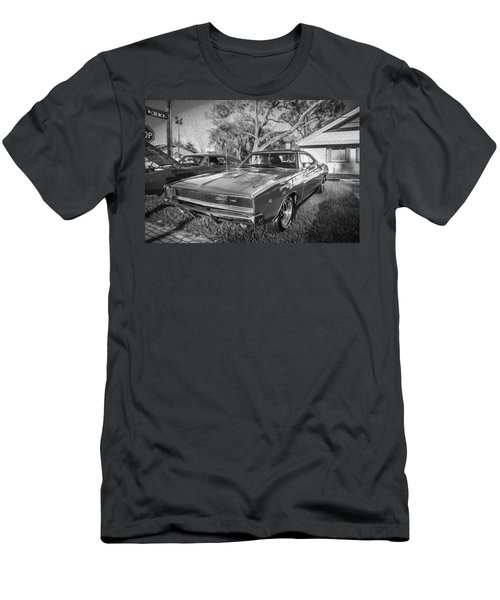 1968 Dodge Charger The Bullit Car Bw Men's T-Shirt (Athletic Fit)