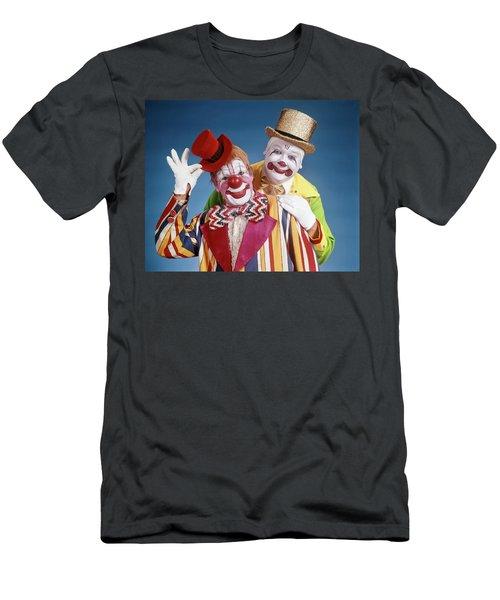 1970s Portrait Of Two Smiling Clowns Men's T-Shirt (Athletic Fit)