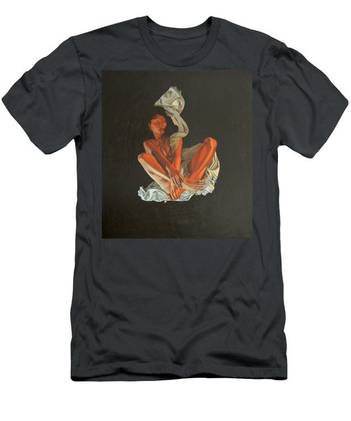 Men's T-Shirt (Slim Fit) featuring the painting 2 30 Am by Thu Nguyen