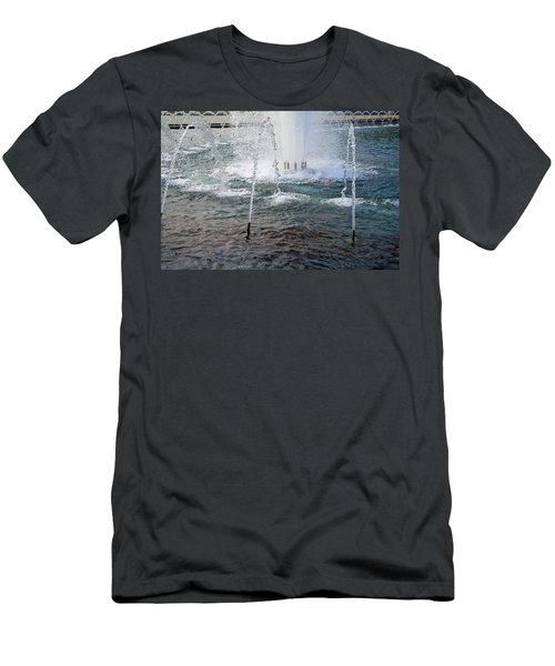 Men's T-Shirt (Slim Fit) featuring the photograph A World War Fountain by Cora Wandel
