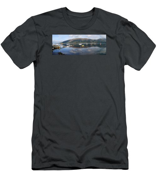Men's T-Shirt (Slim Fit) featuring the photograph Along Loch Leven 3 by Wendy Wilton