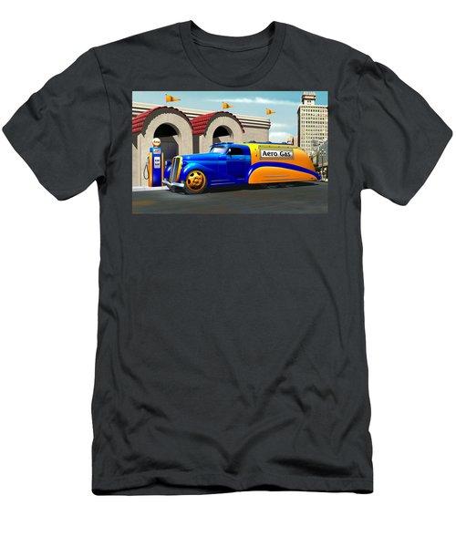 Art Deco Gas Truck Men's T-Shirt (Slim Fit) by Stuart Swartz