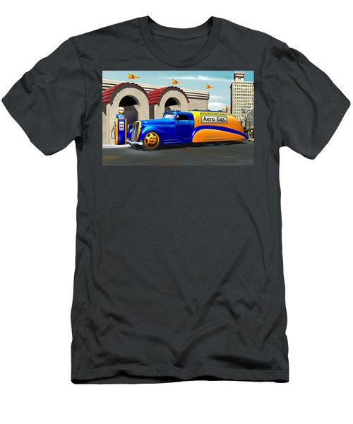 Art Deco Gas Truck Men's T-Shirt (Athletic Fit)
