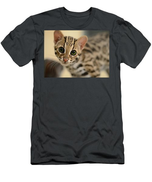 Asian Leopard Cub Men's T-Shirt (Athletic Fit)