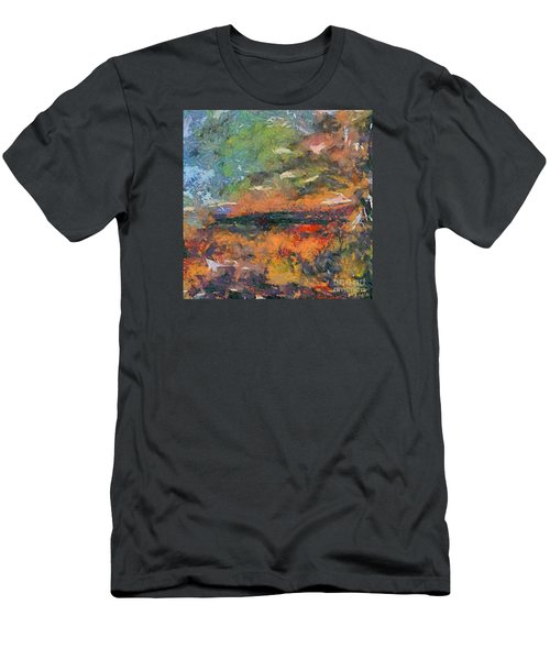 Men's T-Shirt (Slim Fit) featuring the painting At Dawn by Dragica  Micki Fortuna
