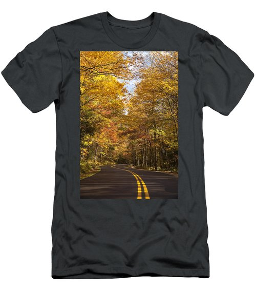 Men's T-Shirt (Slim Fit) featuring the photograph Autumn Drive by Andrew Soundarajan