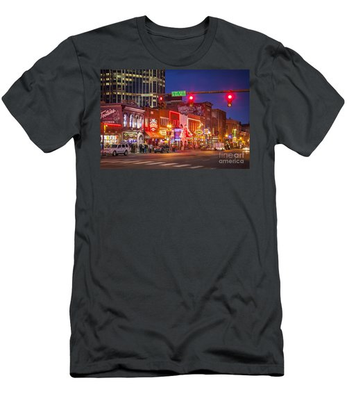 Men's T-Shirt (Athletic Fit) featuring the photograph Broadway Street Nashville by Brian Jannsen