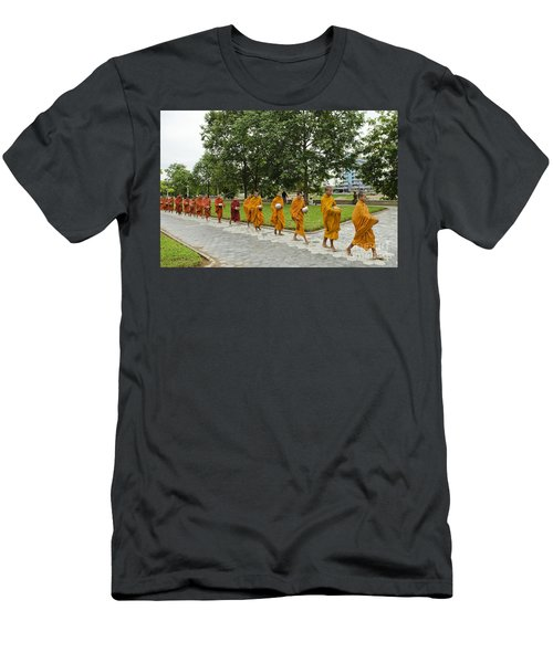 Buddhist Monks In Battambang Cambodia Men's T-Shirt (Athletic Fit)